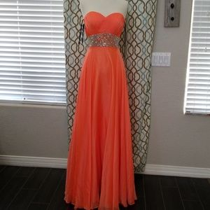 Prom dress Tangerine chiffon
